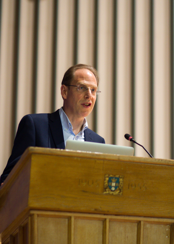 Professor Simon Baron-Cohen taking questions at a public lecture held in Sheffield in January 2015.