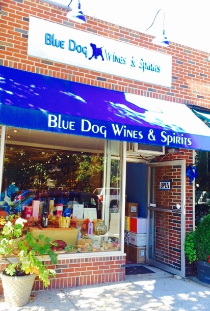 Blue Dog is located at 215 Wolfs Ln. in the beautiful town of Pelham, NY.