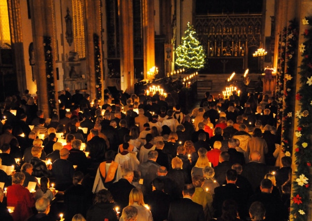 Carols by Candlelight is  a joyful, ecumenical celebration of the Christian meaning of Christmas.  We want to invite people of all faiths and none to gather together as a community to celebrate the peace and joy which the Christ Child brings to the world.     This carol service, co-sponsored by the Collegium Institute, will take place at Saint Agatha Saint James Church, 3728 Chestnut Street, University City and will feature readings, carols and music contributed by faculty, students, student groups and Christian groups in the area.    We would be delighted if you could join us! There will be light refreshments afterwards.  To help us with numbers for the catering it would be helpful if you could RSVP.