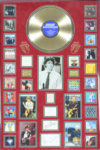 Rolling Stones Collector's Plaque