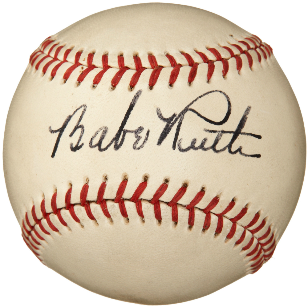 Babe Ruth - Autographed Baseball