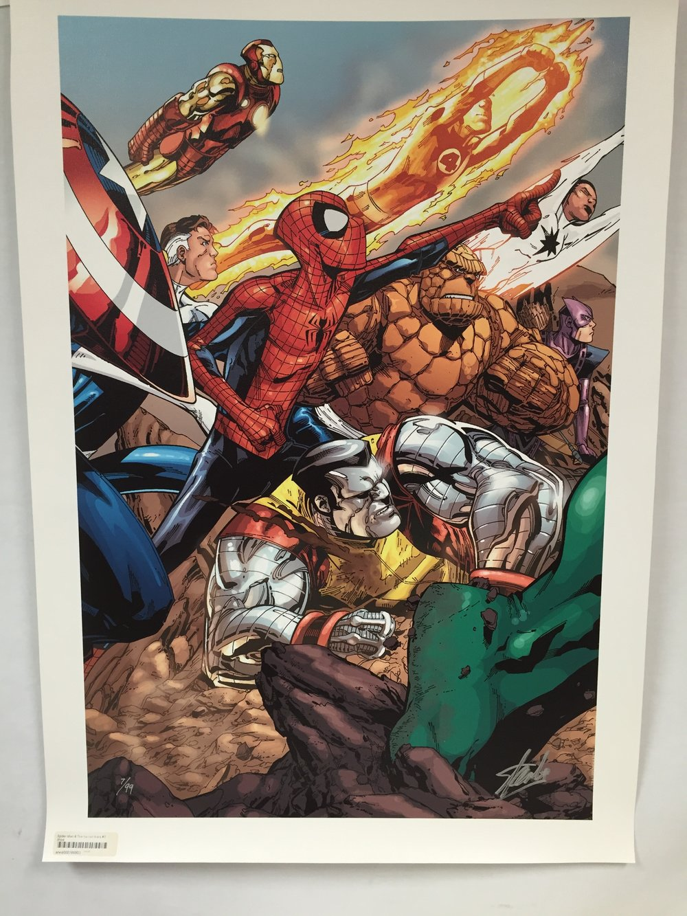 "Marvel Art Print - ""Spiderman & The Secret Wars #3"""