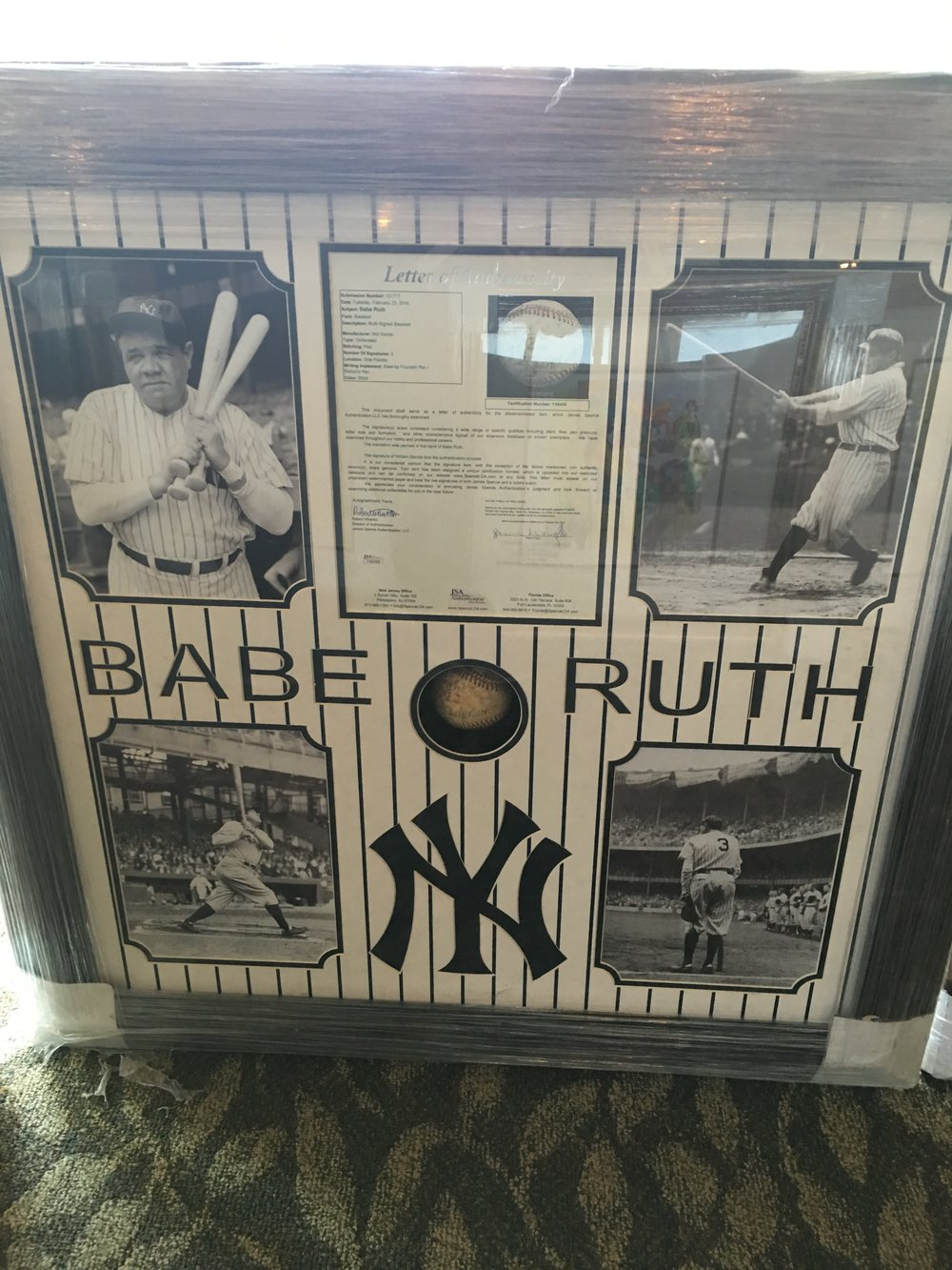 Babe Ruth Collector's Plaque