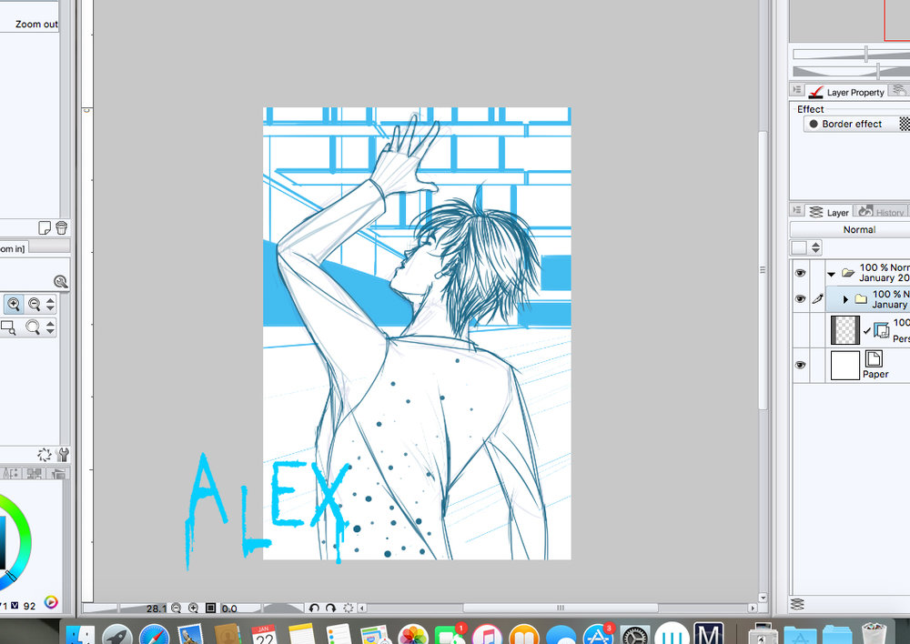 Yuri!! on ICE © MAPPA ©2017 M. Alex LaShelle  Not for sale.  All January 2017 Patrons level I+ will get a high quality copy of final inks. (Become a patron:  https://www.patreon.com/M_Alex_LaShelle )