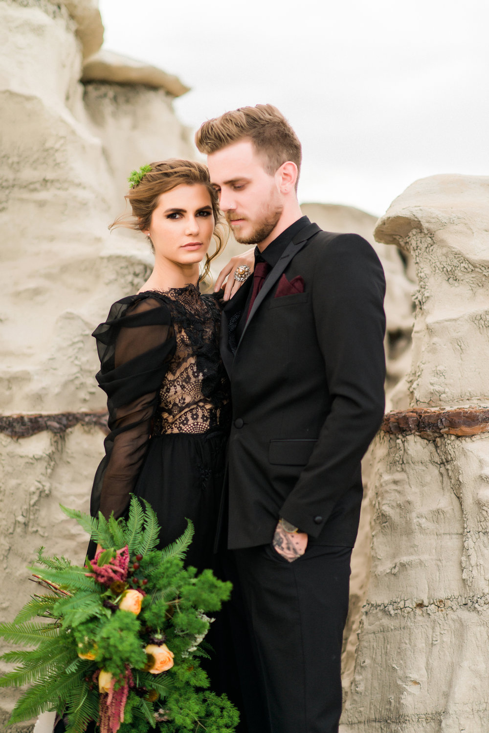 Romantisme Styled shoot  Bisti Badlands, NM