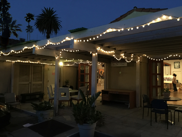 PATIO The patio can be a extended space to your function. Set with twinkly party lights and seating it brings the outdoors in.
