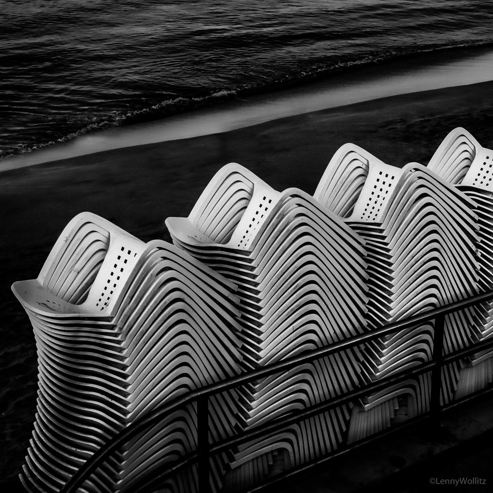 Chairs at the beach.