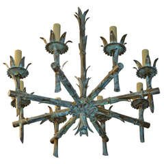 Iron Faux Bamboo Chandelier