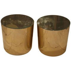 Habitat Brass Drum Tables
