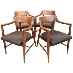 Mid-Century Walnut Chairs