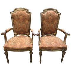 Pair of Italian Fauteuils