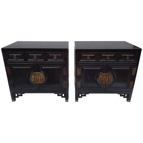 Chinese Chippendale Cabinets
