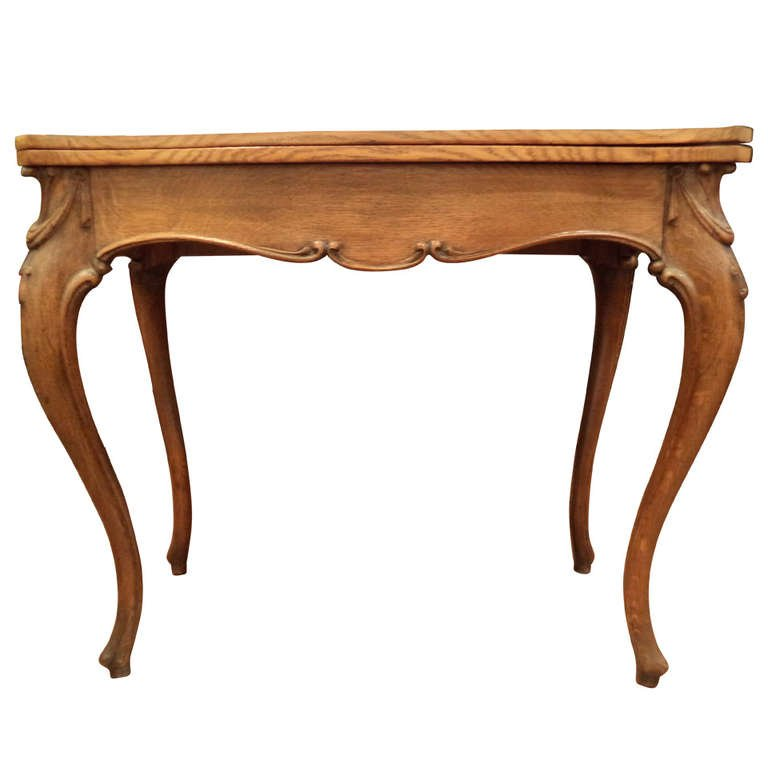 Carved Oak Game Table