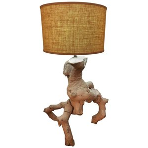 Lighting fleur de lis mid century modern driftwood lamp aloadofball Choice Image