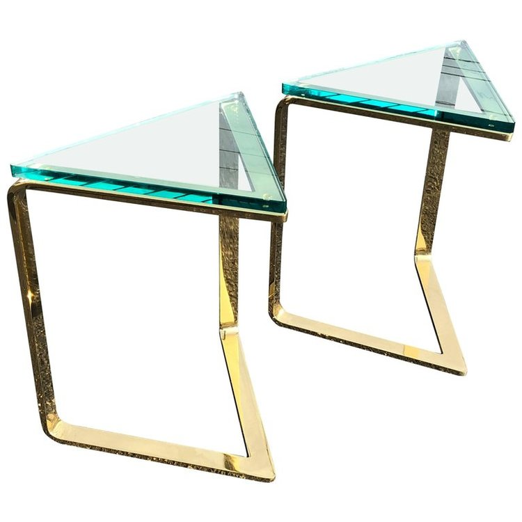 Pair of Geometric Side Tables