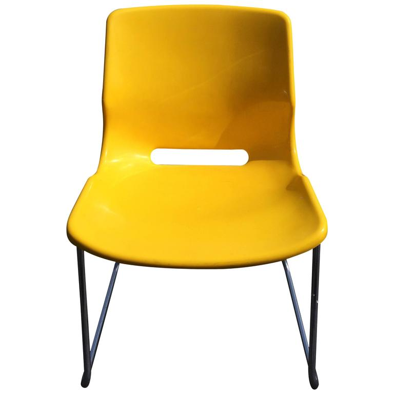 Overman Yellow Side Chair