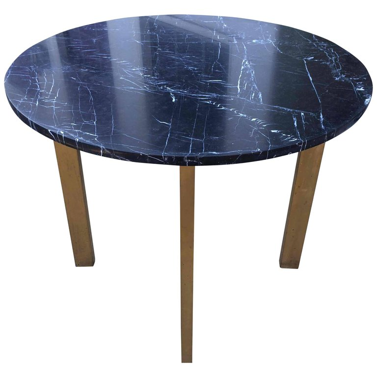 Marble Topped Brass Gilt Table
