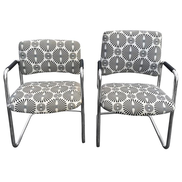 Pair of Mid-Century Optical Art Chairs in Black and White.jpg