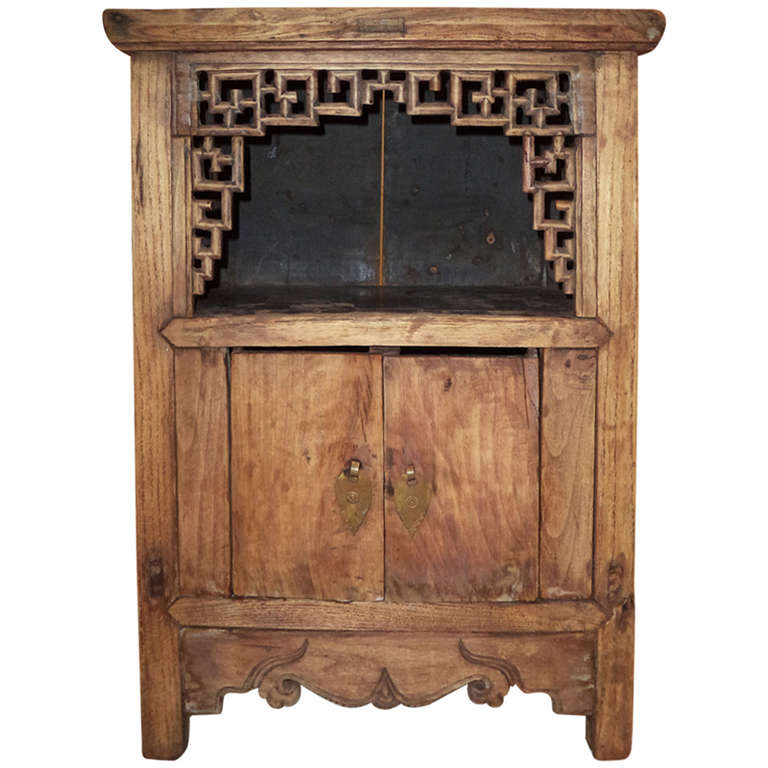 Asian Cabinet w/Fretwork