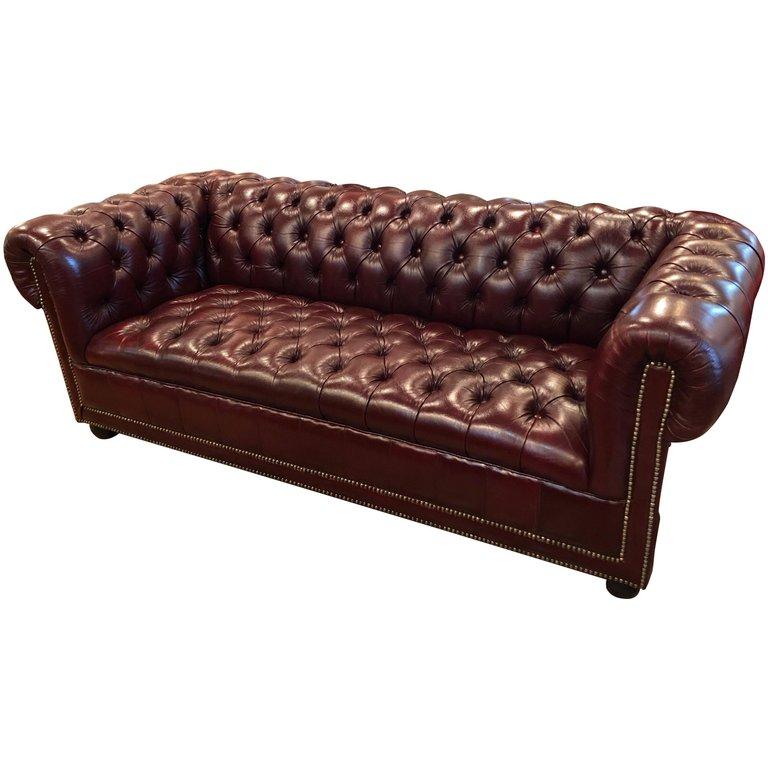 Burgundy Chesterfield Sofa