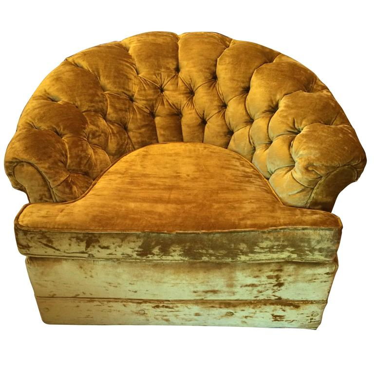 Crushed Velvet Club Chair