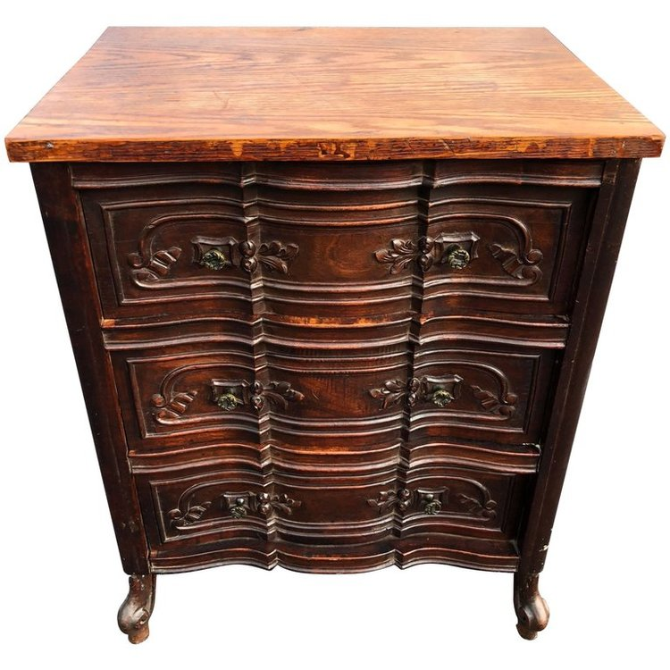 Carved Three-Drawer Dresser