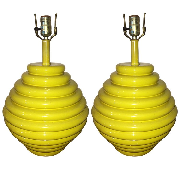 Beehive Shaped Ceramic Lamps