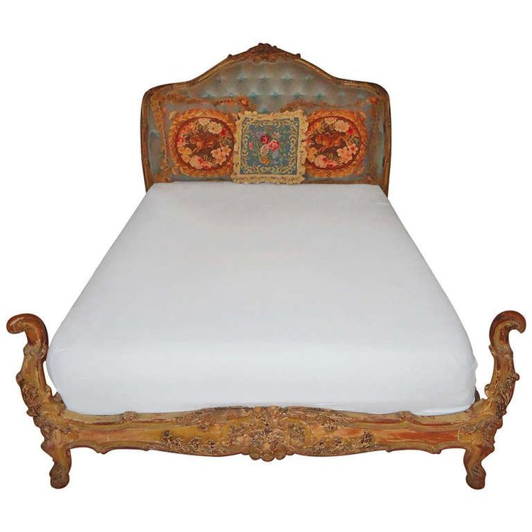 Antique Carved French Bed