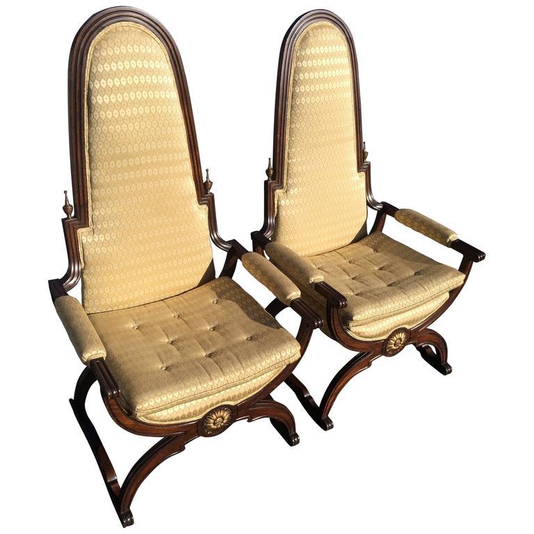 Hollywood Regency Throne Chairs
