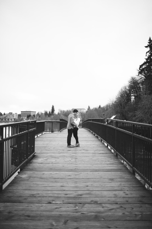 Olympia Engagement Photography Bridge Lake