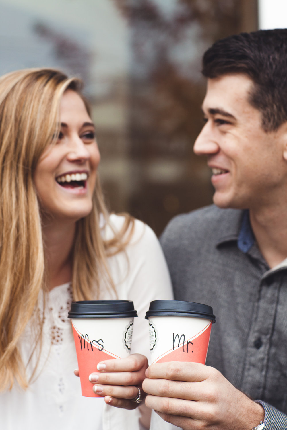 Olympia Engagement Photography Coffee Cups