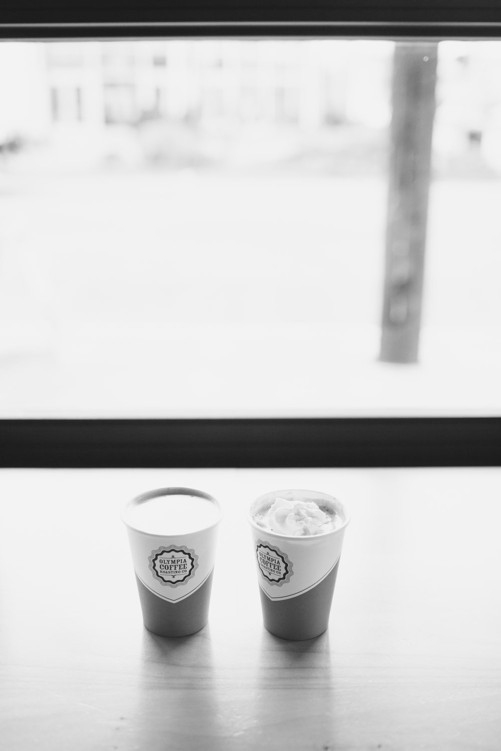 Olympia Engagement Photography Coffee Cups Olympia Coffee Roasters