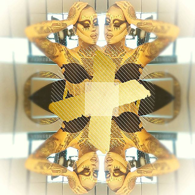 Golden kaleidoscope fantasy. #wednesdaywestwood #drag #dragqueen