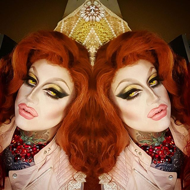 Princess Peach's evil step sister. #wednesdaywestwood #princesspeach #makeup #maccosmetics #drag #dragqueen #wigs #instagay #syntheticwigs #enigmawigs