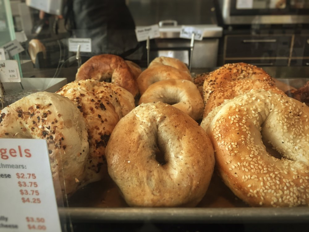 DOZEN NEW YORK BAGELS WITH CREAM CHEESE