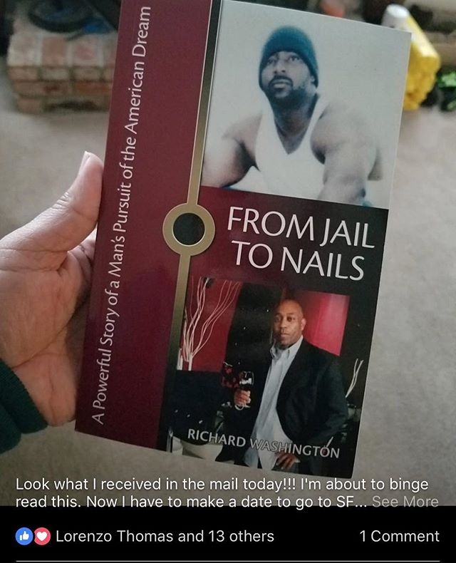 "Get your paperback copy of ""From Jail To Nails"" on amazon.....she got hers"