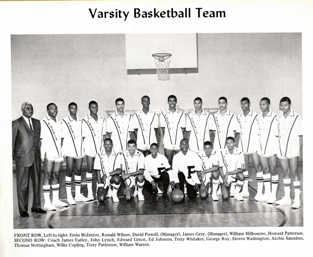 Varsity Basketball Team, 1968