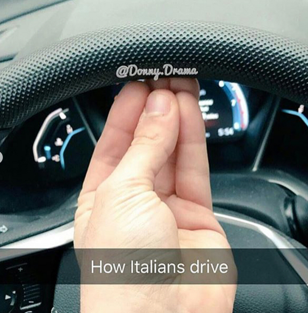 This is funnier if you've ever driven with an Italian.