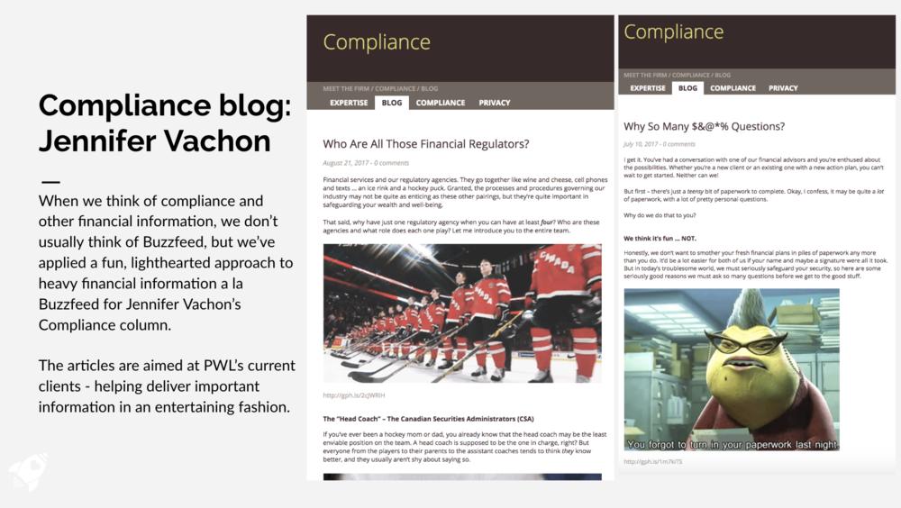 Compliance Blog for Jennifer Vachon