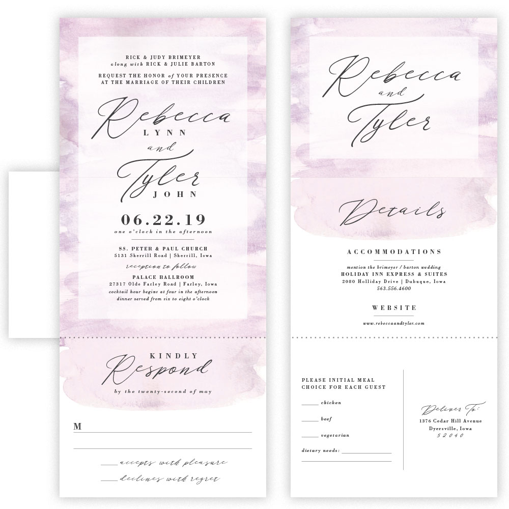 rebecca tri fold invitation with envelope mabe design co