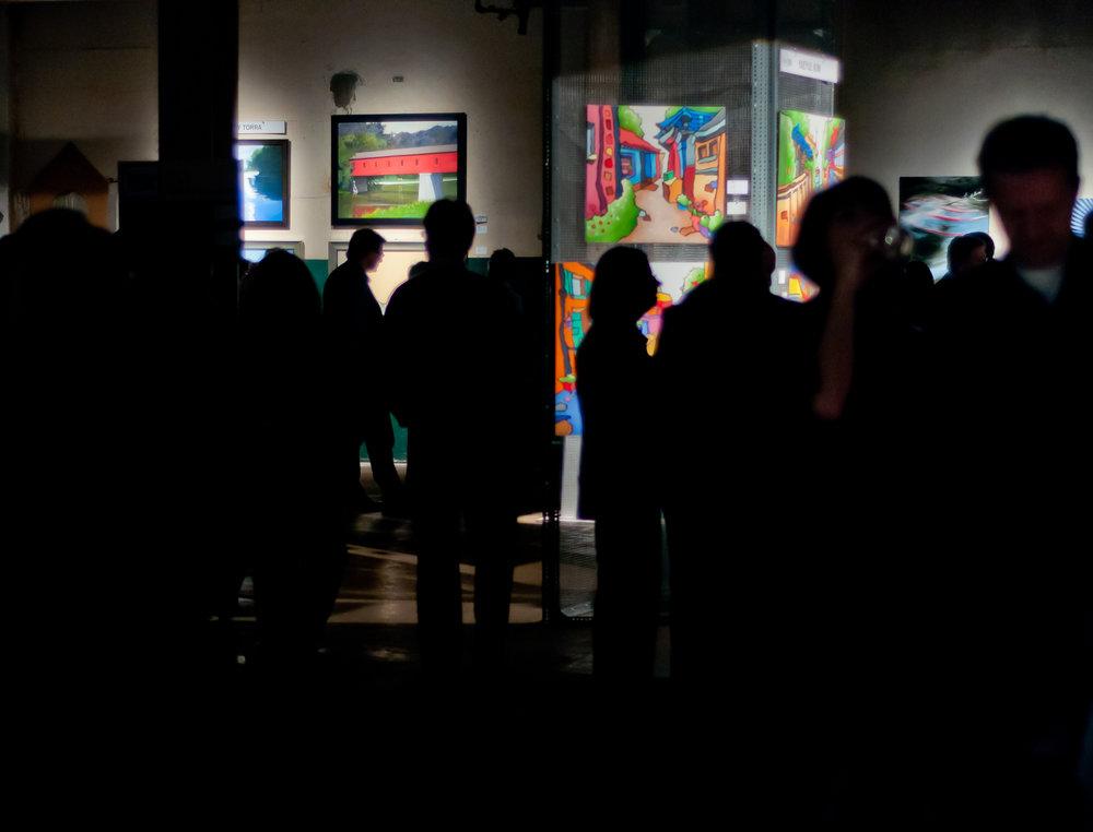 Photo by Darin White of BOX '11 Art Show & Sale