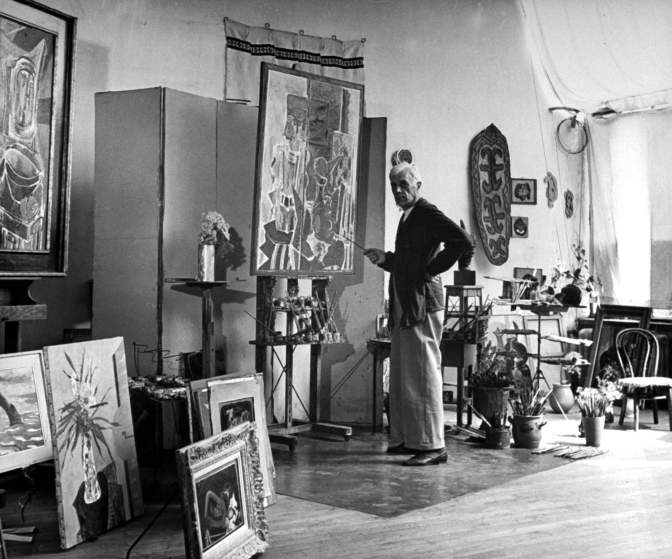 Image: George Braque in his studio