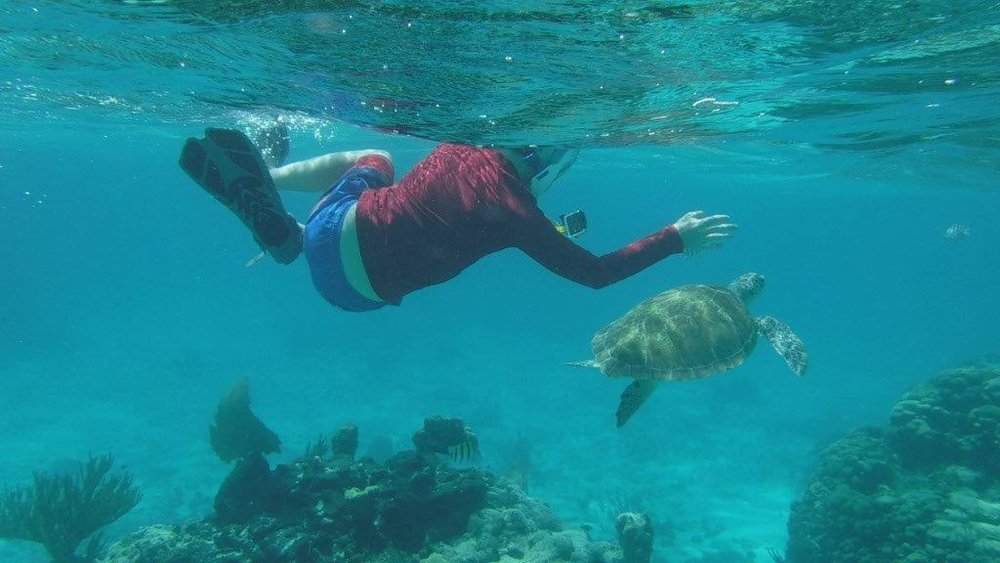 My oldest son LOVED the snorkeling.