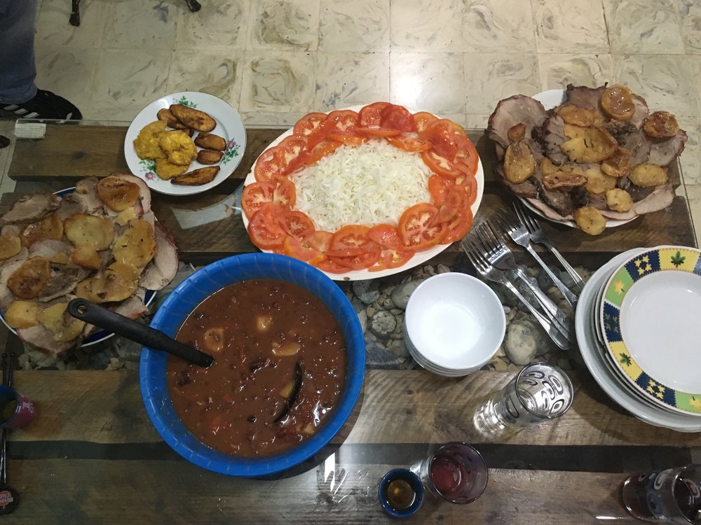Our dear driver invited us into his home to dine with his family. The time and effort his sweet wife put into cooking us a most delicious meal was typical of the Cuban kindness we encountered.