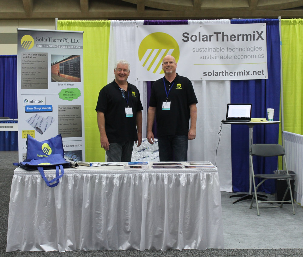 SolarThermiX Booth at AASHE Baltimore.