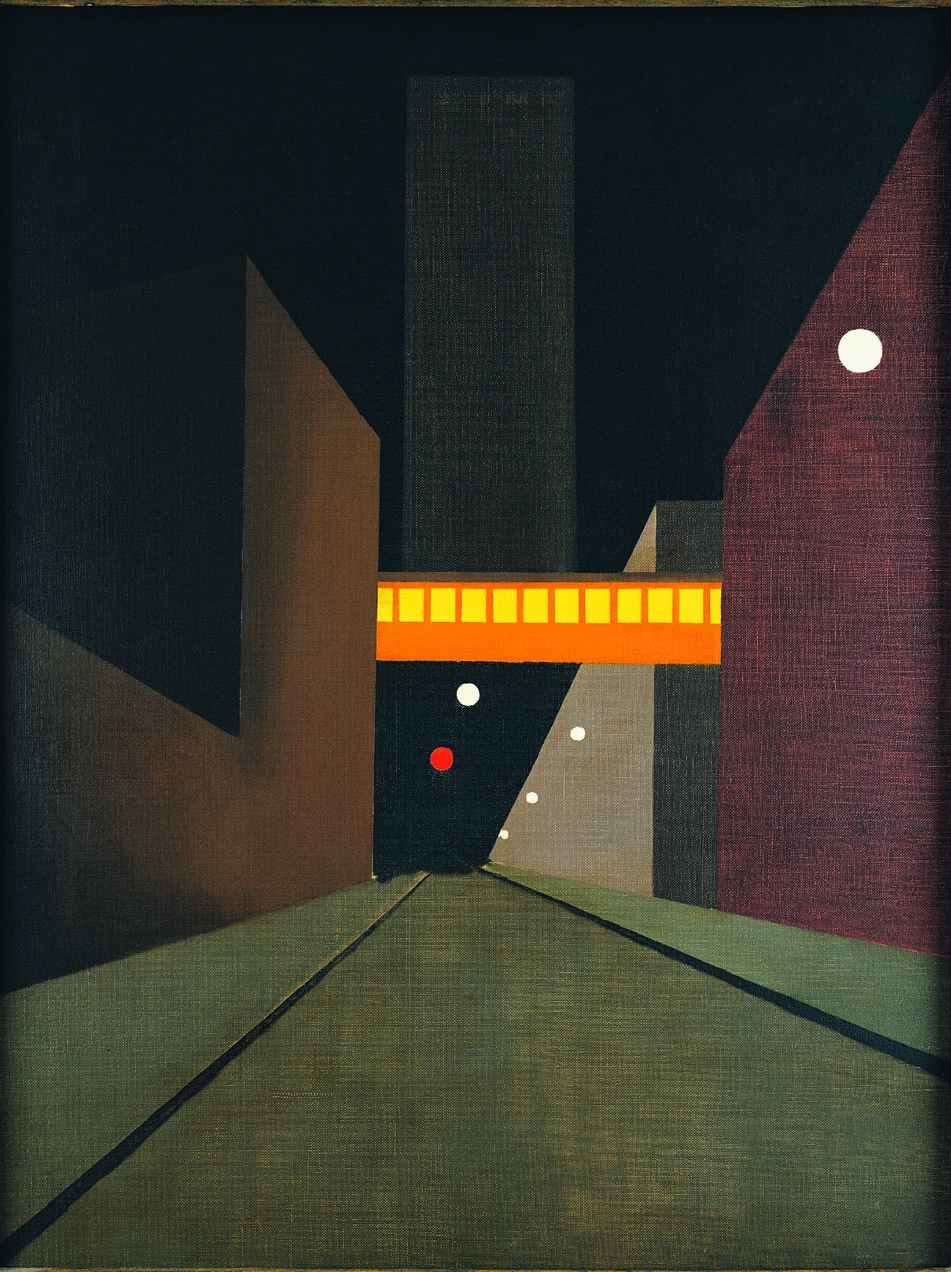 GEORGE AULT  (1891-1948)  Sullivan Street Abstraction, No. 2  1947 Oil on canvas 26 x 20 inches Private Collection, Washington, D.C.