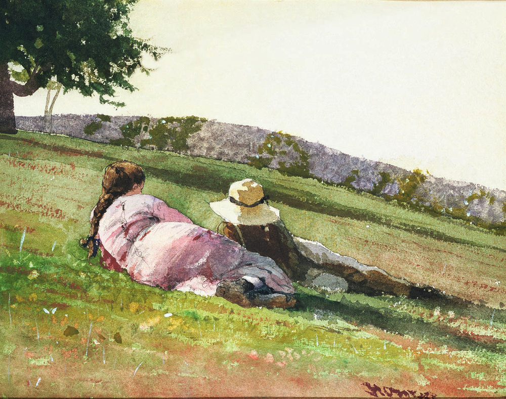 WINSLOW HOMER  (1836-1910)  On the Hill  1878 Watercolor on paper 8 ½ x 11 inches Private collection, Texas