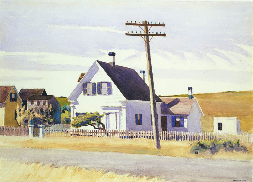 EDWARD HOPPER  (1882-1967)  Lombard's House  1931 Watercolor and gouache on paper 20 X 27 7/8 inches Private collection