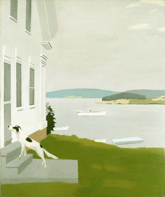 FAIRFIELD PORTER  (1907-1975)  Dog at the Door  1970 Oil on canvas 65 x 54 inches Private collection