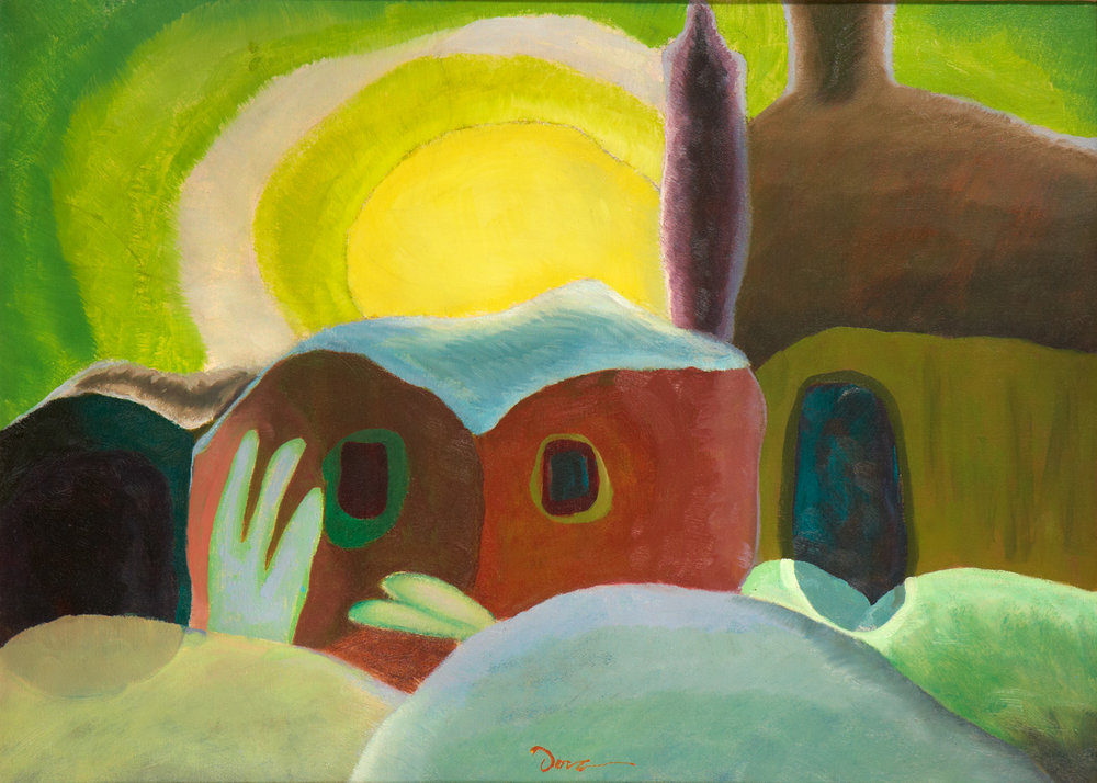 ARTHUR DOVE  (1880-1946)   Sunset , 1935 Oil on canvas 24 x 33 inches Private Collection
